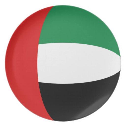 Placa de la bandera de los UAE Fisheye Platos De Comidas