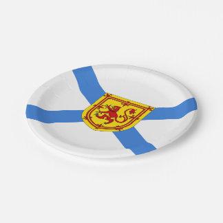 Placa de la bandera de Route™ Nueva Escocia del Plato De Papel De 7 Pulgadas