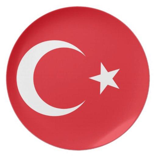 Placa de la bandera de Turquía Platos De Comidas