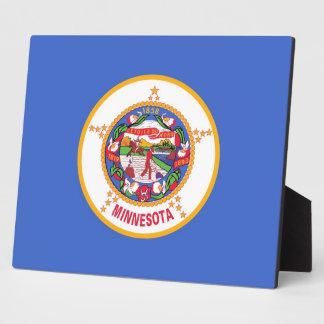 Placa de la bandera del estado de Minnesota
