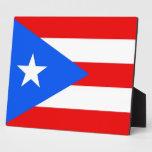 Placa de la bandera del estado de Puerto Rico