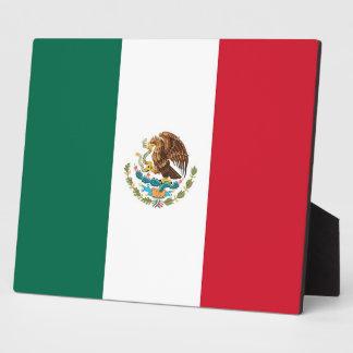 Placa de la bandera mexicana