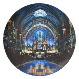 Placa de la basílica de Notre Dame Platos Para Fiestas