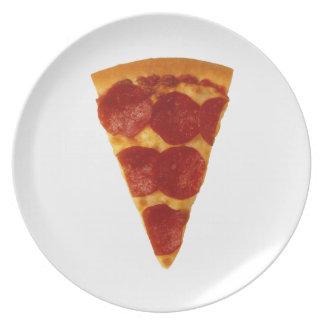 Placa de la broma de la pizza plato