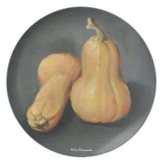 Placa de la calabaza plato para fiesta