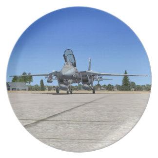 Placa de la caza a reacción de F14 Tomcat Platos
