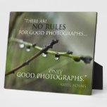 Placa de la cita 3 de la fotografía
