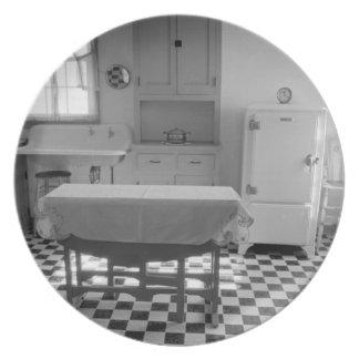 Placa de la cocina de la granja de la Depresión-Er Plato De Comida