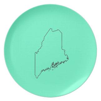 Placa de la cocina de Maine Platos De Comidas