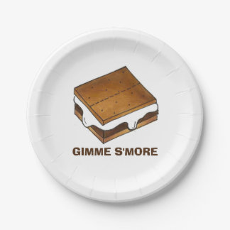 Placa de la comida campestre del campo de Gimme Platos De Papel