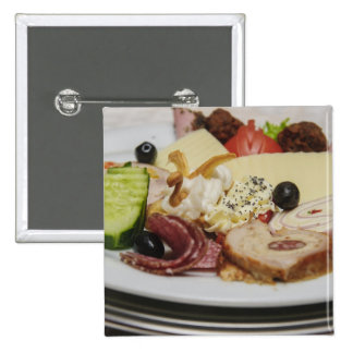 Placa de la comida pin