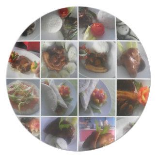 Placa de la comida plato para fiesta