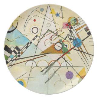 Placa de la composición VIII de Kandinsky Plato De Cena