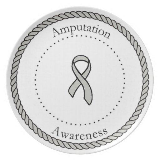 Placa de la conciencia de la amputación platos para fiestas