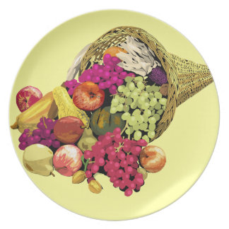 Placa de la cornucopia platos