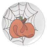 Placa de la cosecha de la calabaza plato de comida