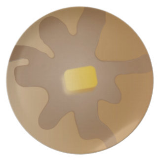 Placa de la crepe platos