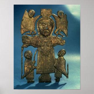 Placa de la crucifixión de San Juan, último siglo  Póster