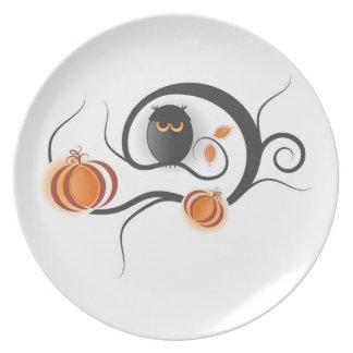 Placa de la decoración de Halloween Plato