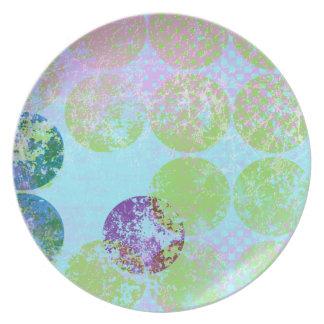 placa de la desolación del punto platos