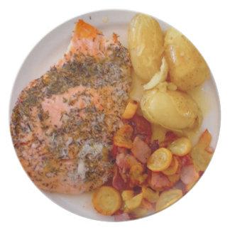 Placa de la dieta plato de comida