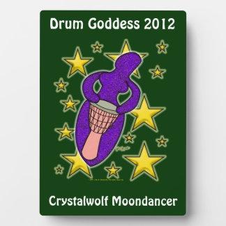 Placa de la diosa del tambor