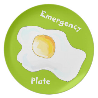 Placa de la emergencia plato de cena