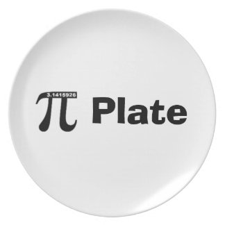 Placa de la empanada (placa) del pi - blanco plato
