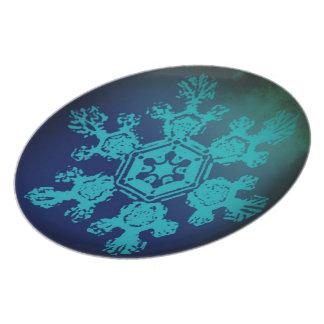 Placa de la escama 10 de la nieve platos