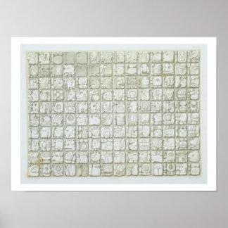 Placa de la escritura ideográfica del templo de I Impresiones