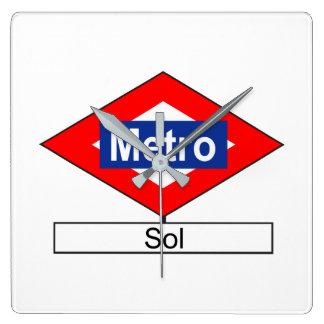 Placa de la estación de Metro de Sol Reloj Cuadrado