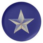Placa de la estrella plato de comida