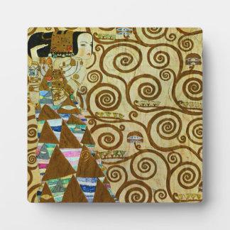 Placa de la expectativa de Gustavo Klimt