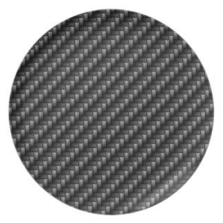 Placa de la fibra de carbono 2 plato