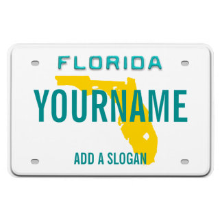 Placa de la Florida personalizada Iman Rectangular