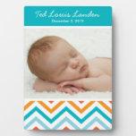 Placa de la foto de Chevron del bebé