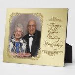Placa de la foto del aniversario de boda de oro