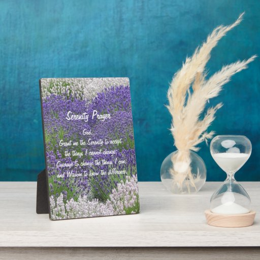 Placa de la foto del jardín de la lavanda del rezo