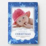 Placa de la foto del navidad de los copos de nieve
