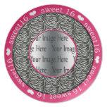 placa de la foto del regalo del dulce 16 de las ro plato para fiesta
