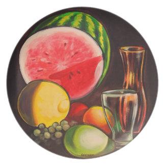 Placa de la fruta de la Aún-Vida Platos Para Fiestas