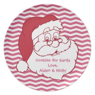 Placa de la galleta de Papá Noel Plato