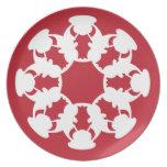 Placa de la galleta del copo de nieve-diseño de plato de cena