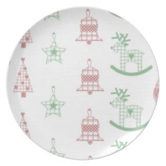 Placa de la galleta del diseño del navidad platos para fiestas