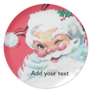 Placa de la galleta del navidad de Papá Noel Platos