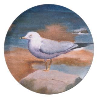 Placa de la gaviota platos