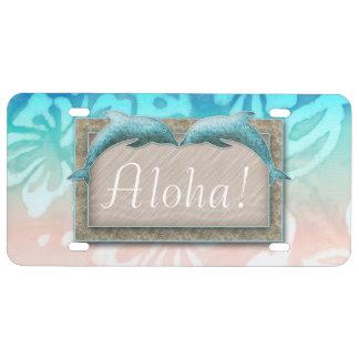 Placa de la hawaiana de los delfínes de Hawaii Placa De Matrícula