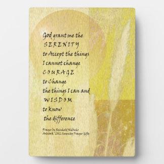 Placa de la hierba de pampa del rezo de la serenid