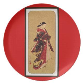 Placa de la impresión del chino platos