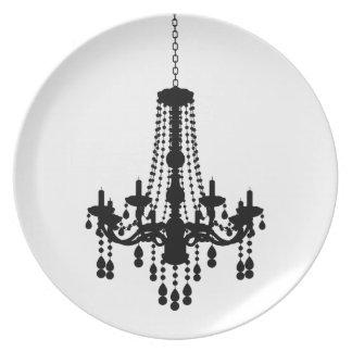 Placa de la lámpara platos para fiestas